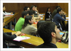 University students attending the info-session about Imagine: Studying in Canada