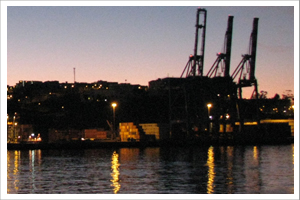Sunset in Valparaiso, Chile's main port