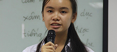 A student presenter supported by various NGOs describes her experience.