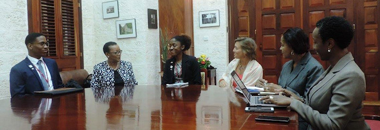 Roundtable discussion with Senator the Honourable Maxine McClean. Minister of Foreign Affairs.
