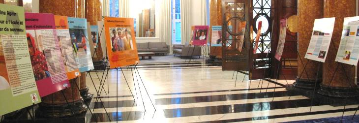 Exhibit takes up the halls at Canada House.