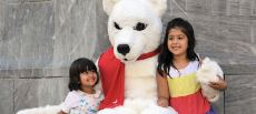 Pierre Polar Bear made many new friends in Adelaide!