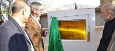 Mr. Ross Hynes inaugurating a girls' primary school