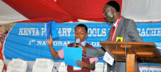 Danny Kinaro, The National Children's Government President takes the oath of office.