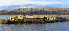 Indigenous communities still live on floating islands made of totora reed.