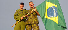 Brazilian-born Canadian officers LCol Luiz Araújo and Capt Eric Willrich