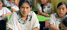 Girls in Chizon, Guatemala receive scholarships.