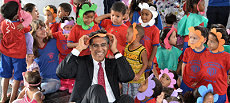 Ambassador Khokhar with children