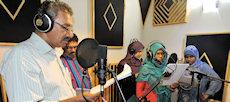 Participants producing the radio drama