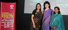 Ms. Elena Ahmed; Heather Cruden, High Commissioner; and Ms. Nishat Majumder