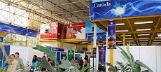 Inside the Canadian Pavilion at FIHAV 2013