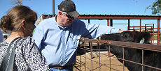 sul General Caldwell-St Onge visits the farm of Billy Bob Brown in Panhandle, Texas