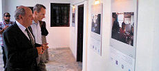 Canadian Chargé d'affaires Denis Thibault tours the Faraway Syria Exhibition with German Deputy Head of Mission