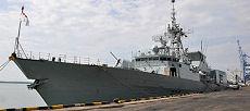 Le NCSM Regina dans le port Nord de Port Klang, en Malaisie