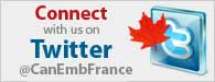 Connect with us on Twitter @CanEmbFrance