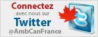 Connectez avec nous sur Twitter @AmbCanFrance
