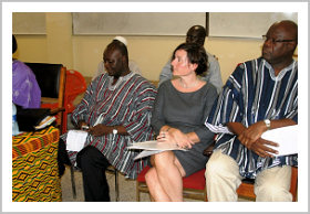 Political Counsellor Diedrah Kelly with Honourable Dan Botwe and Honourable Fritz Baffour