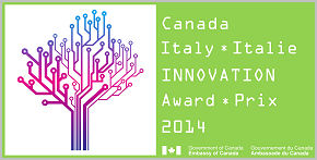 Canada-Italy Innovation award 2014 logo
