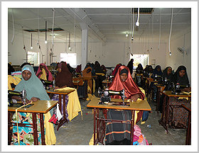 The girls graduated from the tailoring school have since been issued with sewing machines and contracted.