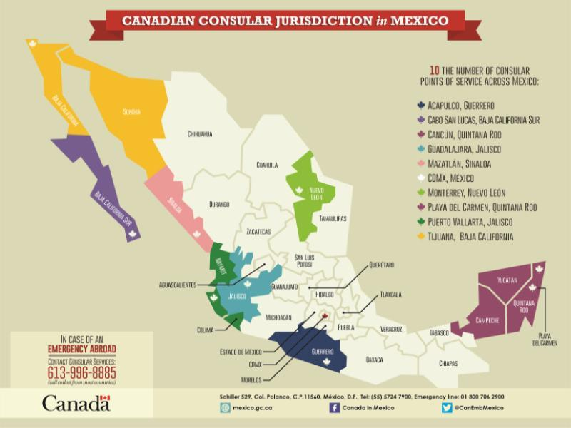 Where Is Mazatlan In Mexico Map.Canadian Consular Services In Mexico