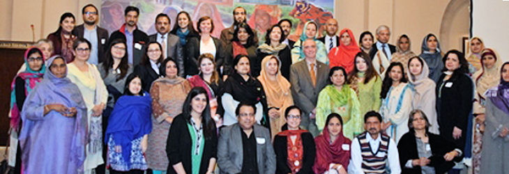 Participants gather for a group photo after the Women's Economic Empowerment forum
