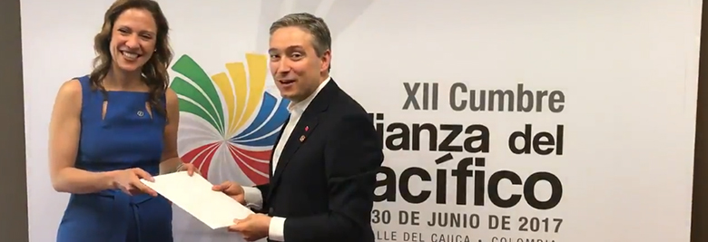 International Trade Minister welcomes invitation by the Pacific Alliance to start negotiations to deepen trading relations with Latin America.