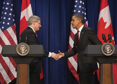 Harper and Obama