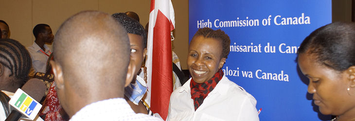 CEFM Champion Valerie Msoka at the launch event