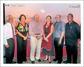 Board Members of the Trinidad and Tobago Transparency Institute and High Commissioner McDonald pause for a photo