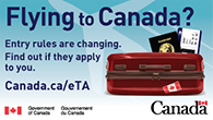 Flying to Canada - Entry rules are changing. Find out of they apply to you. Canada.ca/eTa
