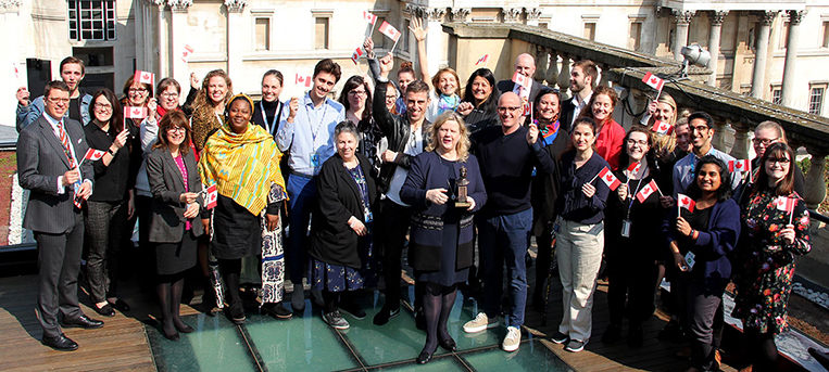 Congratulating the producers of the show in person and take a close look at the Olivier Award statuette