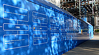 Our timeline on the blue hoardings