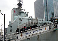 HMCS Iroquois crew prepare to greet visitors