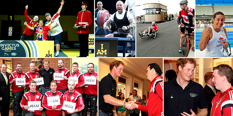 Collage - Invictus Games and HRH Prince Harry